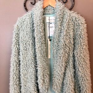 Mustard Seed plush mint green sweater/jacket